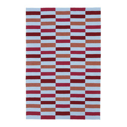 Kaleen - Kaleen Matira Collection MAT03-08 3'X5' Cranberry - Matira is inspired from the absolutely beautiful and breathtaking secluded beaches of Bora Bora. White powdery sand, crystal clear blue waters, and the lush botanical surroundings embrace every aspect of this collection. Each rug is UV protected and handmade with 100% Polypropylene. Complete with our special  K-Stop Non-Skid Backing , Matira will be your perfect anchor to a magical getaway.