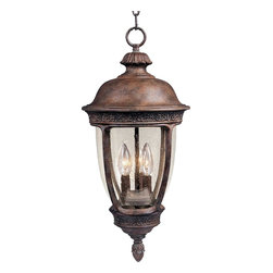 Maxim Lighting - Maxim Lighting 40467CDSE Transitional Three Light Up Lighting Outdoor Pendant - Those who appreciate the finer things in life, pay attention to detail, and demand the very best for their home choose the Knob Hill hanging lantern to light their outdoor spaces.