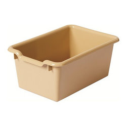 Ecr4kids - Ecr4Kids Kids Children Scoop Front Storage Bins Sand Pack Of 10 - Get organized These durable, versatile and sturdy scoop-front, plastic tote bins are the perfect addition to most ECR4Kids storage units that are 12 deep or more.