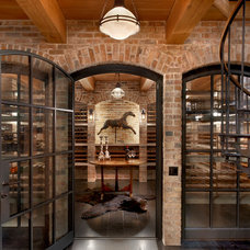 Traditional Wine Cellar by Wells & Fox