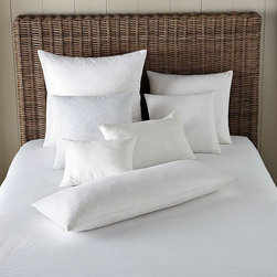 Decorative Pillow Inserts - These soft, 230-thread-count combed-cotton pillow inserts come in a choice of a feather/down blend or down alternative.