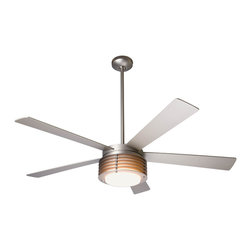 "Modern Fan Company - Modern Fan Company Pharos Matte Nickel 52"" Ceiling Fan + Wall Control - Features:"