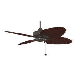 Fanimation - Fanimation Windpointe 4 Blade Unipack OB Ceiling Fan in Oil-Rubbed Bronze - Fanimation Windpointe 4 Blade Unipack OB Model FP7410OB in Oil-Rubbed Bronze with Cairo Purple Carved Wood Finished Blades.