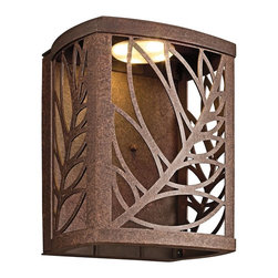KICHLER - KICHLER 49251AGZLED Takil LED Contemporary Outdoor Wall Sconce - The Takil™ Collection from Kichler Lighting.  LED Outdoor lighting in Aged Bronze. Dark Sky requirements. Photocell included.