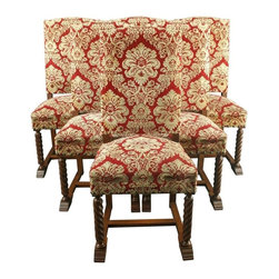 EuroLux Home - Consigned Vintage French Renaissance Dining Chairs - Product Details