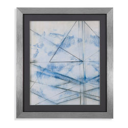 Bassett Mirror - Bassett Mirror Framed Under Glass Art, Cloud Spectrum I - Cloud Spectrum I