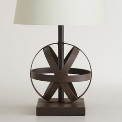 Metal Orb Accent Lamp Base -