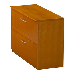 Mayline - Mayline Napoli 2 Drawer Lateral Wood File Cabinet in Golden Cherry - Mayline - Filing Cabinets - VLFGCH -
