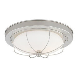 Vaxcel Lighting - Vaxcel Lighting C0025 Marina Bay 2 Light Flush Mount Ceiling Fixture - Features: