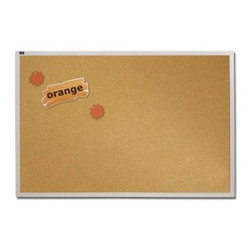 Quartet Natural Cork Bulletin Board with Aluminum Frame - 96 x 48 in. - About QuartetQuartet knows that you just have to write it down or you'll forget. They've been in the whiteboard, bulletin board, and chalkboard business since 1945 and have perfected the art of the perfect surface. Today, they boast a full line of visual communication products used at home, in the office, in hospitals, and in schools across the country. When you're looking for a product to help you communicate, you're looking for Quartet.