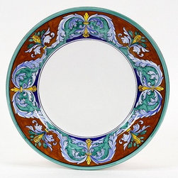 Artistica - Hand Made in Italy - ROYALE: Dinner Plate - Royale Deruta Dinnerware collection: