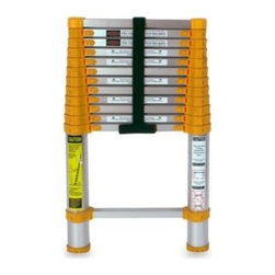Core Distribution Inc. - Xtend & Climb 770P 12.5-Foot Telescoping Ladder - Xtend & Climb 770P 12.5' Telescoping Ladder is designed for do-it-yourselfers and built to meet industrial quality standards. This telescoping ladder provides a sensible alternative to traditional bulky extension ladders.