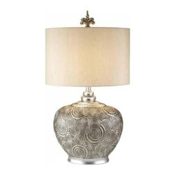 OK LIGHTING - Brass Lamps: 29 in. Antique Brass Milleripple Collection Table Lamp OK-4227T - Shop for Lighting & Fans at The Home Depot. 30 in. Milleripple collection table lamp. The silver swirls on the table lamp will add an artistic yet elegant accent. It's for any of room. The instruction is included and easy to install.