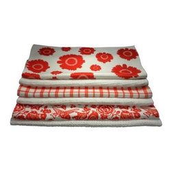 Tangerine Tango Prints Microfiber Dish Towels By Beejo's - These printed towels are for the kitchen.