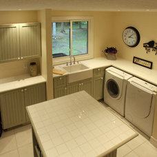 Traditional Laundry Room by Schnarr Craftsmen Inc