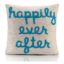 """alexandra ferguson llc - Happily Ever After, Oatmeal/Turquoise - As we get older, we realize that """"happily ever after"""" isn't at all where the story ends, but rather, just when it begins. MADE IN THE USA"""
