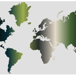 "Studio Map Mural - Dark Green & Grey Gradient - Peel & Stick - 1 Panel - 74"" x 3 - From our studio collection, decorative map themed prints in huge wall mural sizes. Instant color or texture to any room!   The peel and stick material goes up in seconds, is repositionable, and will not damage walls when removed. The finely woven fabric material will not wrinkle or bubble, and will stay put for years. This is an ideal material for dorm rooms and apartments where permanent modifications to walls are forbidden. Instantly add color and visual texture to your room with one of these easy to hang, map themed wall coverings. (Note that due to the flexibility and nature of the thin fabric material, uneven wall surfaces may show texture through the material. For best results apply to a smooth surface.)  Single panel murals come as a single sheet & are intended for one or two people to apply.  Studio Map Murals are made to order & are not returnable once opened.  Please allow two weeks for delivery.  Express shipping not available."