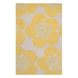 Surya - Aimee Wilder Yellow Area Rug - Energetic and bright, the Aimee Wilder Yellow Area Rug will be a perfect floor covering in any decor. This unique designed area rug has floral pattern in sunny-golden yellow and gray colors. Made of 100% pure wool using hand-tufted method. Aimee Wilder Rug will make any interior unique and trendy. Bring personality and novelty to your decor. Features: