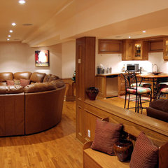 traditional basement by Schnarr Craftsmen Inc