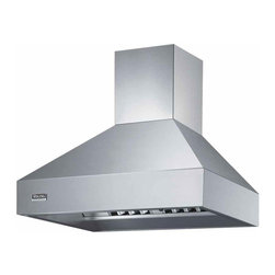 "Viking 48"" Wall Mount Chimney Range Hood, Stainless Steel 