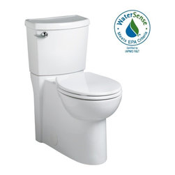 American Standard - American Standard Cadet 3 Concealed Trapway Right Height Round Front Toilet - American Standard 2988.101.020 Cadet 3 Concealed Trapway Right Height Round Front Toilet, White