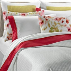 Vera Wang - Vera Wang Modern Ikat Coverlet - Add a serene layer to your bed with the Vera Wang Modern Ikat coverlet. Made of 100% cotton, this cover adds warmth and comfort to your bed space. The versatile coverlet is best complemented by bright and floral bedding sets from the same collection.