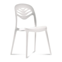 DomItalia Furniture - ForYou2 Stacking Side Chair (Set of 4), White - Chat on the patio, picnic around the outdoor dining table, or have extra seating in the kitchen with the ForYou2 Stacking Dining Chair in White. Chair is made from recyclable materials with ecological productive process. Fun design of the ForYou2 may be something you want for yourself!