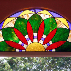 Interior Residential Stained Glass - Homestead, FL - Custom window we designed and installed for a customer in Miami.