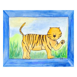 Oh How Cute Kids by Serena Bowman - Tiger, Ready To Hang Canvas Kid's Wall Decor, 20 X 24 - Every kid is unique and special in their own way so why shouldn't their wall decor be so as well! With our extensive selection of canvas wall art for kids, from princesses to spaceships and cowboys to travel girls, we'll help you find that perfect piece for your special one.  Or fill the entire room with our imaginative art, every canvas is part of a coordinating series, an easy way to provide a complete and unified look for any room.