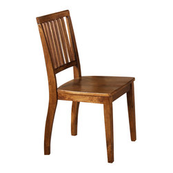 "Steve Silver - Steve Silver Candice Side Chair in Oak (Set of 2) - The Candice Collection offers country-style simplicity, transforming any dining area into a charming sanctuary. The warm oak Candice side chair features a high back with vertical slats and a shaped wooden seat for comfort.  The chair measures 18""W x 22""D x 36""H.  What's included: Side Chair (can only be purchased in sets of 2)."