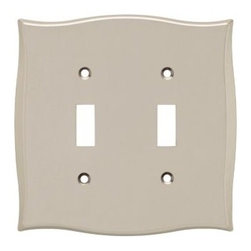 Liberty Hardware - Liberty Hardware 144041 Llylah WP Collection 5.08 Inch Switch Plate - A simple change can make a huge impact on the look and feel of any room. Change out your old wall plates and give any room a brand new feel. Experience the look of a quality Liberty Hardware wall plate. Width - 5.08 Inch, Height - 5.04 Inch, Projection - 0.22 Inch, Finish - Vintage Nickel, Weight - 0.51 Lbs.