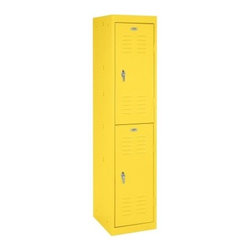 Sandusky 66 in. Double Tier Locker - Store in style with theSandusky 66 in. Double Tier Locker. This durable steel locker features a two-tiered design that allows you to organize supplies in any workstation. Available in a variety of bright finishes and Greenguard certified. About Edsal ManufacturingFor over 30 years, Edsal has been dedicated to providing companies with only the best storage systems and industrial furniture. Today, products marketed under the Edsal brand name have earned a substantial share of the market in every region of the country. The Chicago-based company offers an extensive product line, including five grades of industrial shelving as well as pallet and bulk storage racks for heavier applications. It also manufactures a complete selection of the most popular industrial furniture items, including storage cabinets, lockers, service carts, workbenches, and stools.