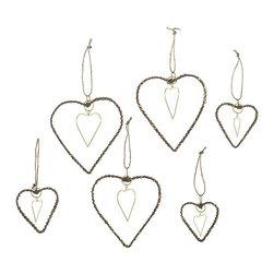 Jeweled Heart Ornaments - I love these beaded heart ornaments because they remind me of jewelry.
