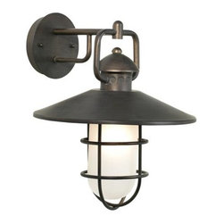 Navigator Collection 15-inch-high Outdoor Wall Light - These fishermen navigator lights would look good on either side of a doorway.