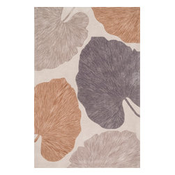 """Loloi Rugs - Loloi Rugs Eden Collection - Ivory / Grey, 5' x 7'-6"""" - Hand-tufted in China of 100% polyester, the Eden Collection combines bold, over-scale design with a soft color palette throughout. All seven designs are enhanced by a hand-carved finish around the edges of the pattern and a plush surface."""