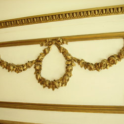 FRENCH ANTIQUE TRUMEAU MIRROR - Glamorous, impressive focal point in any room.  Dimensions: 7'x3'