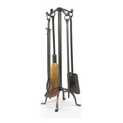 WOODFIELD - Woodfield 4-piece, Vintage Iron Tool Set With Ring Handles - Woodfield 4-piece, Vintage Iron Tool Set With Ring Handles