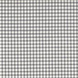 Close to Custom Linens - King Shams Ruffled Pair Brindle Gray Gingham Check - A charming traditional gingham check in brindle gray on a cream background.