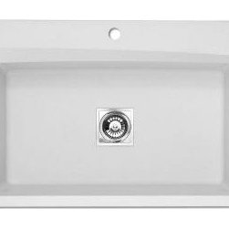 Astracast Dual Mount 33 in. x 22 in. Large Single Bowl Kitchen Sink-AS-WC10RWUSS -