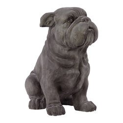 Urban Trends Collection - Grey Polystone Fiber Stone Dog - This precious pup is a delightful addition to any room in your home. Constructed of polystone, this adorable dog statue is made to last.