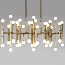 Chandeliers Meurice Rectangular Chandelier by Jonathan Adler