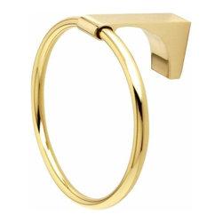 Alno Inc. - Alno Luna Towel Ring, Polished Brass - Alno Luna Towel Ring in Polished Brass
