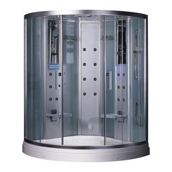 Ariel Platinum - Ariel Platinum DZ938F3 Steam Shower 59x59x88.6 - These fully loaded steam showers include massage jets, ceiling & handheld showerheads, chromotherapy, aromatherapy and built in radios to help maximize the therapeutic experience.