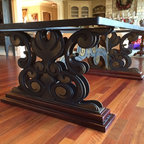 Furniture by ARTTIG LTD - This Dining Table base custom Designed and fabricated by ARTTIG .