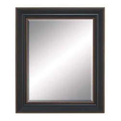 "Benzara - Beveled Mirror with Saddle Brown Finish and Brown Accent - Beveled Mirror with Saddle Brown Finish and Brown Accent. This polystone beveled mirror is the reflection of your unique taste. It comes with a following dimensions 29""W x 1""D x 35""H."