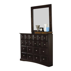 Coaster - Coaster Harbor Classic 8 Drawer Dresser and Mirror Set in Cappuccino - Coaster - Dressers - 201383201384PKG