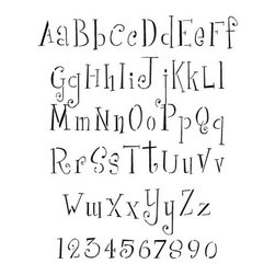 Stencil Ease - Girls Are Weird Alphabet Stencil - Girls Are Weird Alphabet Stencils - includes uppercase and lowercase A-Z and numbers. Comes with 62 individual sheets of durable reusable plastic.