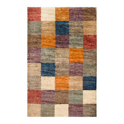Surya - Hand Woven Trinidad Natural Fiber Hemp Geometric Rug (5' x 8') - Hand woven in 100-percent hemp,this rug features the vibrant colors of papyrus,ivory,mushroom,paprika,red,purple,stormy sea,pacific blue and cameo blue with a natural fiber style and plush pile.