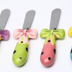 ATD - 3 1/8 Inch Yellow, Green, Pink and Blue Dilly Dots Spreaders Set - This gorgeous 3 1/8 Inch Yellow, Green, Pink and Blue Dilly Dots Spreaders Set has the finest details and highest quality you will find anywhere! 3 1/8 Inch Yellow, Green, Pink and Blue Dilly Dots Spreaders Set is truly remarkable.