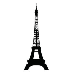 Paris Skyline Eiffel Tower Wall Decal - Ideal for homes, kids rooms, and schools.